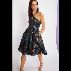 NWT CYNTHIA ROWLEY One Shoulder Jacquard Dress 0